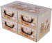 Pudełko 4 szufladki poziome Misie beżowe