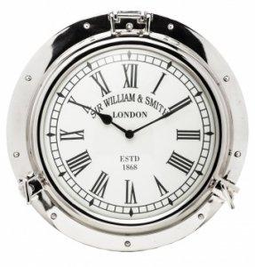 Zegar w bulaju metalowy styl marynistyczny nowoczesny