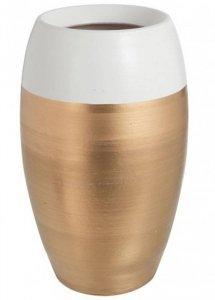 Ceramiczny wazon białe obrzeże wys 30 cm