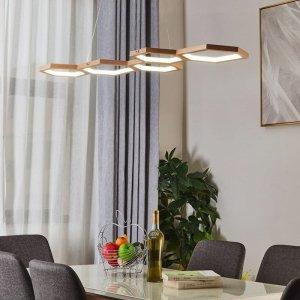 LAMPA PLASTRY MIODU DREWNIANA LED