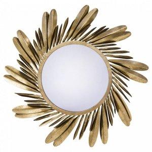 Bardzo duże lustro glamour boho złote liście