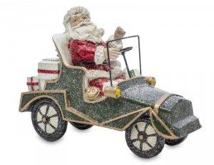 Urocza Figurka Mikołaj w Samochodzie Xmas Boże Narodzenie