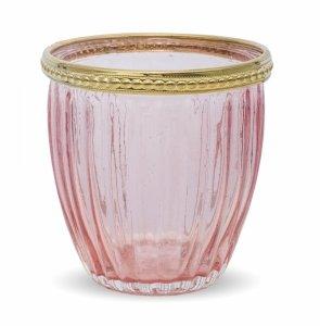 Lampion ozdobny świecznik różowy. 3 szt.