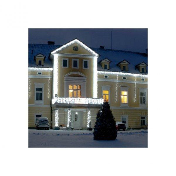 LAMPKI CHOINKOWE 220 LED ZEWNĘTRZNE BIAŁE+WYŁ CZASOWY