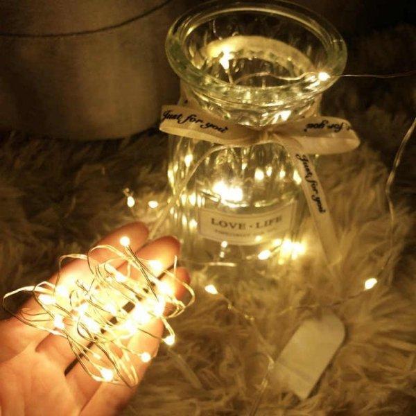 LAMPKI NA DRUCIE 10 LED OŚWIETLENIE ŚWIĄTECZNE