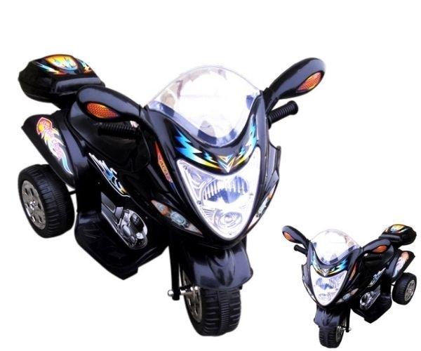 MOTOR NA AKUMULATOR CZARNY 2 BIEGI ŚWIATŁA LED