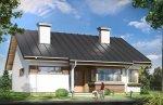 Projekt domu Dom dla trojga pow.netto 89,24 m2