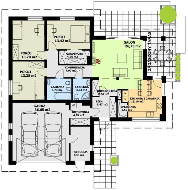 projekt domu tk33 aktualna wycena gratis. Black Bedroom Furniture Sets. Home Design Ideas