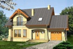 Projekt domu PIANO z garażem 1-stanowiskowym