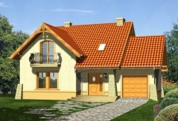 Projekt domu LAGUNA z garażem 1-stanowiskowym