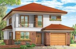 Projekt domu Kasjopea pow.netto 160,37 m2