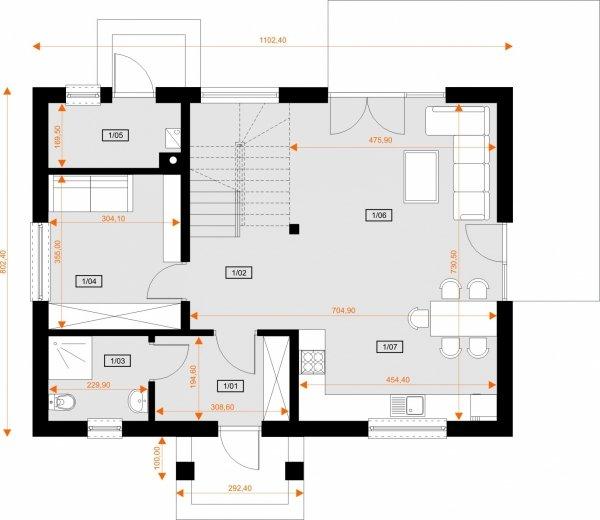 Projekt domu w technologii STEICO - DOM AMADEUSZA