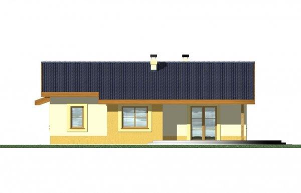Projekt domu Mniszek wer. C (z garażem dobudowanym)