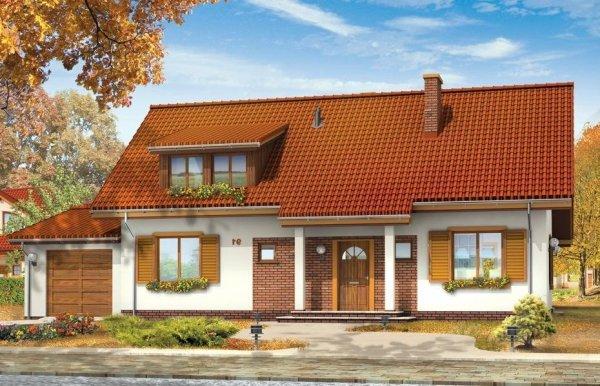 Projekt domu Fraszka II pow.netto 154,46 m2