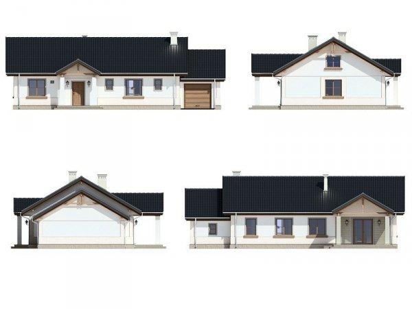 Projekt domu Anatol pow.netto 111,41 m2
