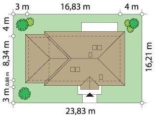 Projekt domu Dominik II pow.netto 115,1 m2