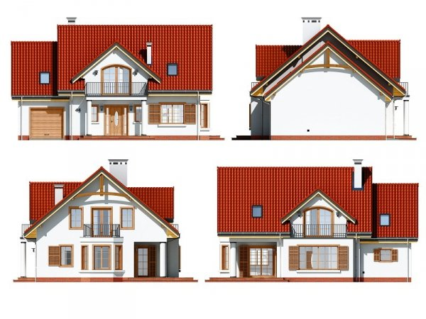 Projekt domu Julka IV pow.netto 145,82 m2