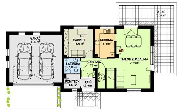 Projekt domu TK8GL2
