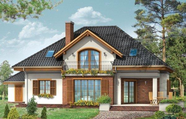 Projekt domu Filip z garażem BG100 pow.netto 223,26 m2