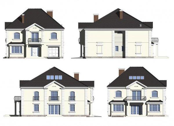 Projekt domu Elegancki pow.netto 294,9 m2