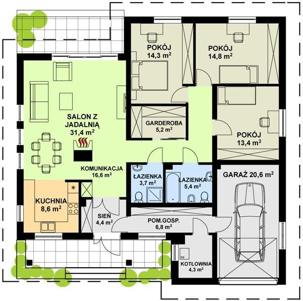 Projekt domu TK5
