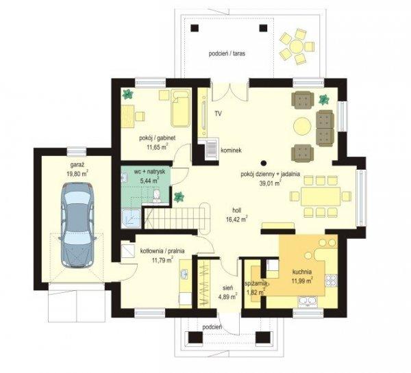 Projekt domu Gagatek pow.netto 186,51 m2