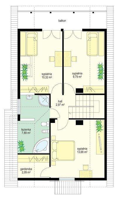 Projekt domu Słowik pow.netto 119,21 m2