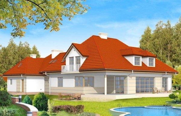 Projekt domu Rezydencja pow.netto 374,23 m2