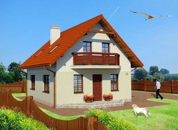 Projekt domu na wąską działkę Zagajnik Fiołków