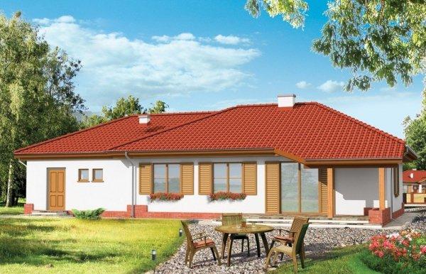 Projekt domu Cztery kąty pow.netto 152,19 m2