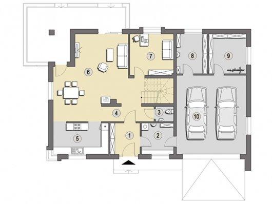 Projekt domu Caracas B