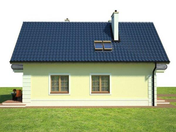 Projekt domu na wąską działkę Przytulna Oaza