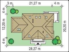 Projekt domu Benedykt pow.netto 273,74 m2