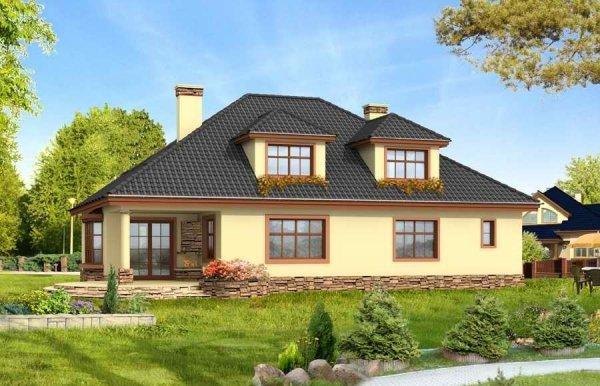 Projekt domu Zacisze II pow.netto 241,74 m2