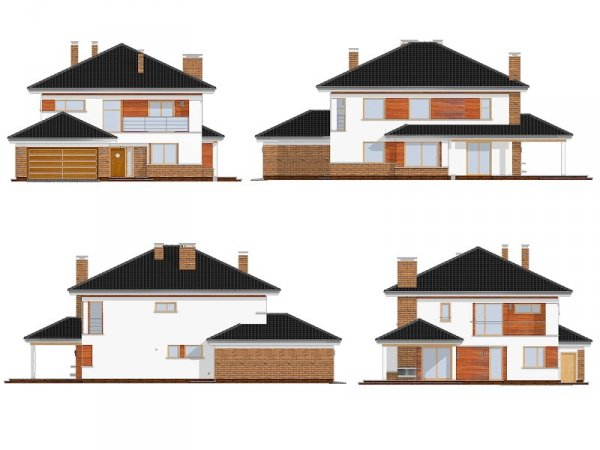 Projekt domu Willa na Borowej pow.netto 213,87 m2