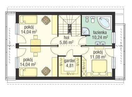 Projekt domu Dom z piętrem pow.netto 125,79 m2