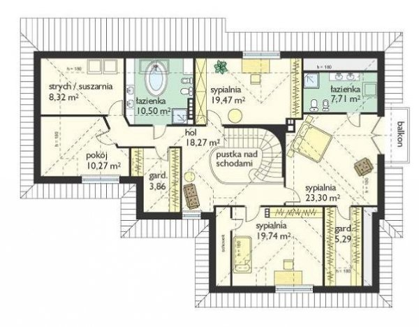 Projekt domu Siedziba pow.netto 264,98 m2