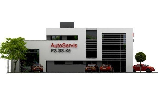 Projekt warsztatu samochodowego PS-SS-K5 pow. 720 m2