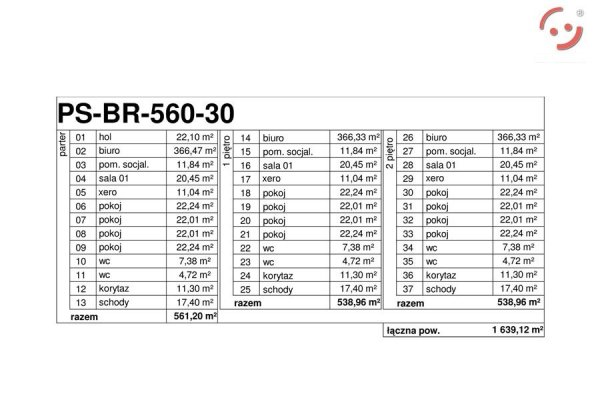Projekt biurowca PS-BR-560-30
