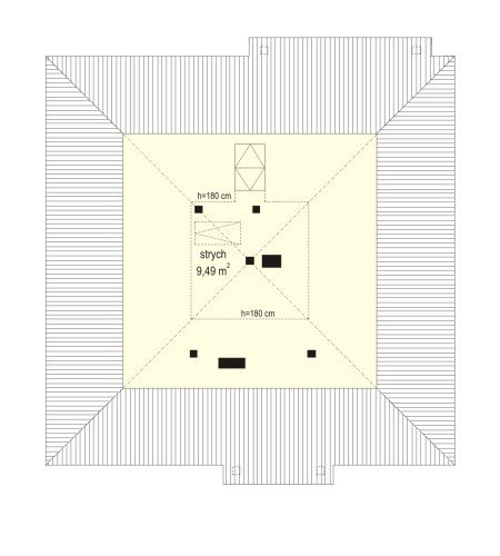 Projekt domu Bambi pow.netto 64,96 m2