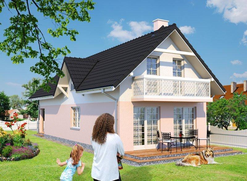 Projekt domu na wąską działkę Ogród Sfinksa