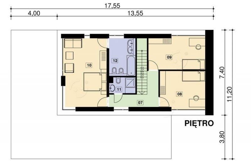 Projekt domu nowoczesnego PS-GS-70-20GV2 pow. 201,58 m2