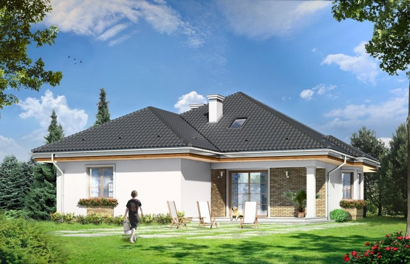 Projekt domu Natalia IV pow.netto 128,03 m2