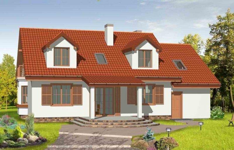 Projekt domu Zgrabny III pow.netto 186,36 m2