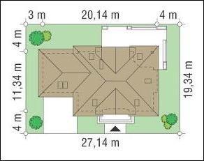 Projekt domu Benedykt II pow.netto 194,52 m2