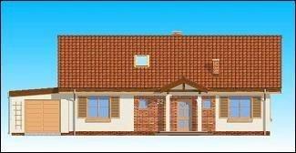 Projekt domu Słoneczny z poddaszem pow.netto 115,67 m2