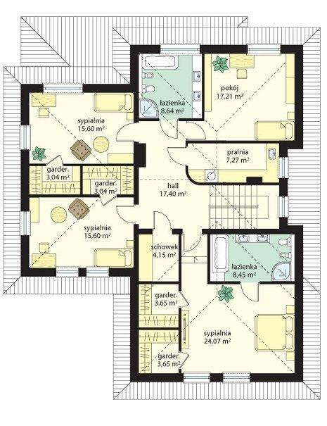 Projekt domu Koral pow.netto 221,62 m2