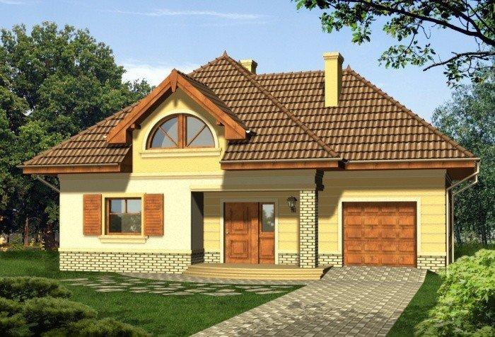 Projekt domu MOKKA z garażem 1-stanowiskowym