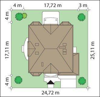 Projekt domu Sokół pow.netto 347,74 m2