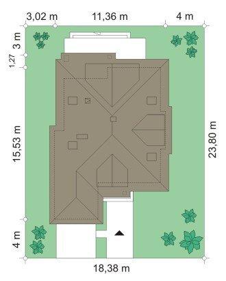 Projekt domu Zuzia pow.netto 153,1 m2